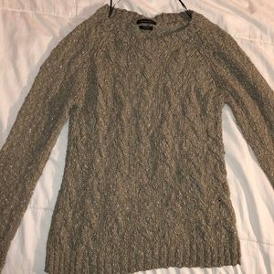 Massimo Dutti Gray and Gold Sweater